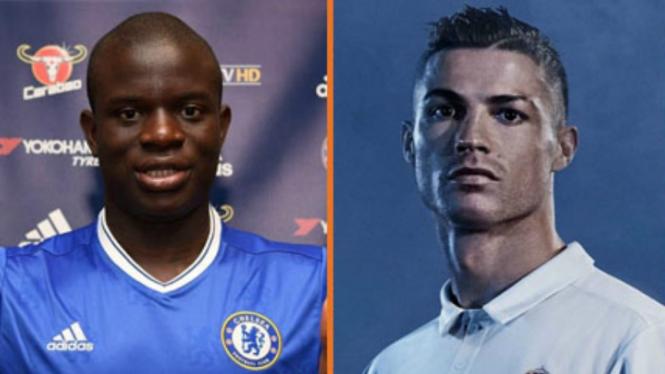 N'Golo Kante dan Cristiano Ronaldo