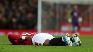 Striker Manchester United, Marcus Rashford tersungkur