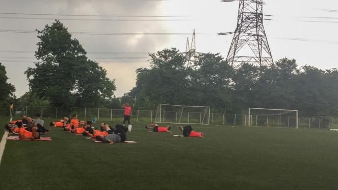 Persija Jakarta latihan di Lapangan NYTC Sawangan