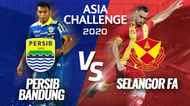 Laga Persib Bandung vs Selangor FA di pentas Asia Challenge 2020