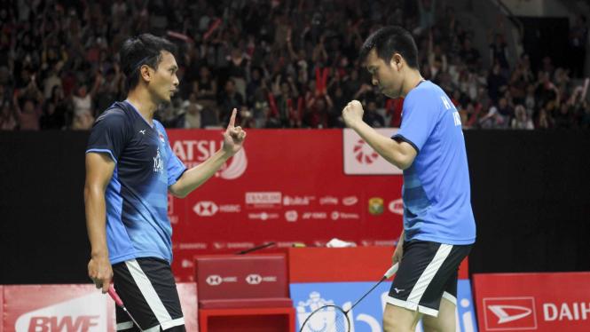 Istora Bergemuruh, Ahsan/Hendra Lolos Semifinal