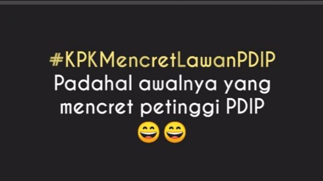Meme KPK dan PDIP
