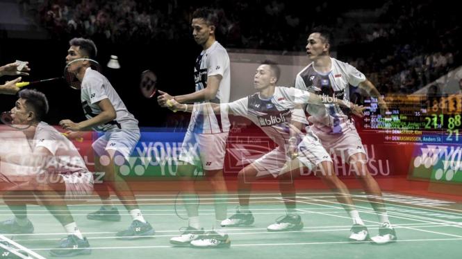Fajar/Rian Hancurkan Ganda Denmark di Perempatfinal