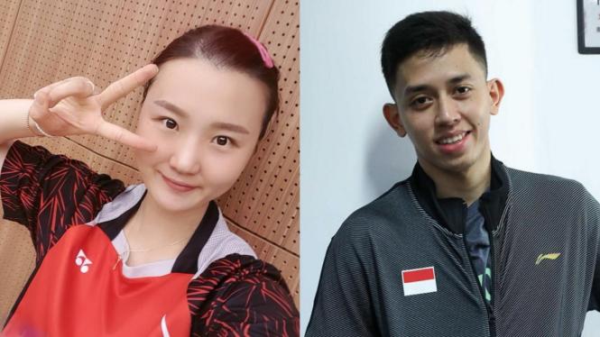 Shin Seung Chan dan Rian Ardianto.
