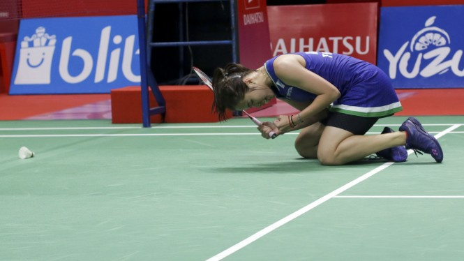 Ratchanok Vs Carolina Marin di Final Indonesia Masters