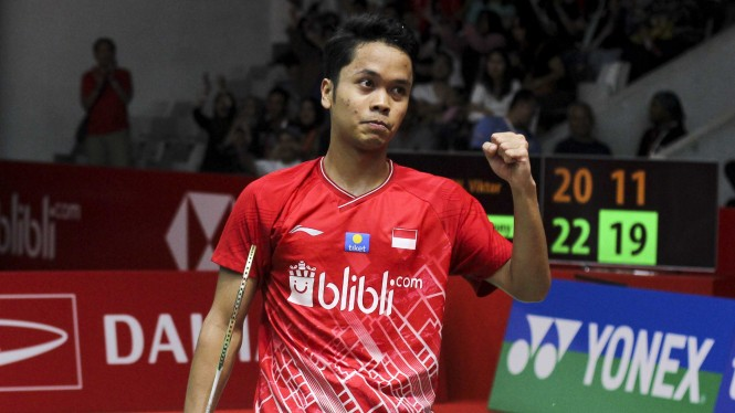 Istora Geger, Anthony Ginting Lumat Raja Superseries