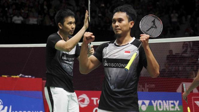 Kalahkan Fajar/Rian, Ahsan/Hendra ke Final Indonesia Master