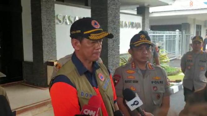 Kepala BNPB Doni Monardo dan Wakapolri Komjen Pol Gatot Eddy Pramono