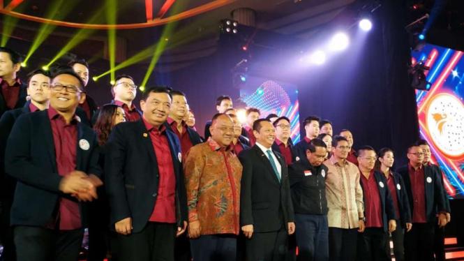 Budi Gunawan dan Sandiaga Uno di Pelantikan PB Esport Indonesia
