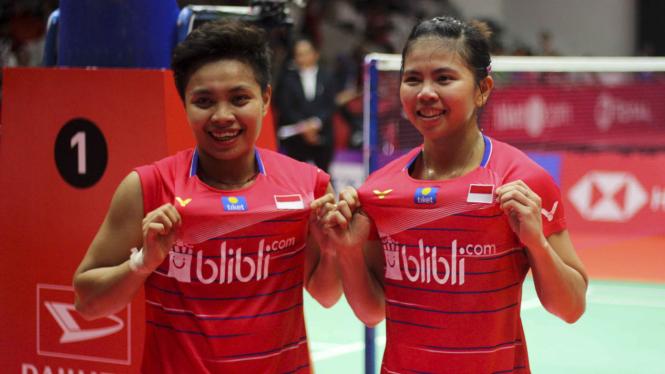 Ganda Putri Indonesia Greysia Polii/Apriyani Rahayu