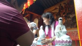 Vihara Dhanagun Bogor siap menyambut Imlek.