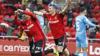 Pemain Mallorca rayakan gol ke gawang Valencia