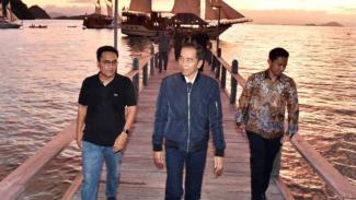 Presiden Jokowi di Labuan Bajo, Nusa Tenggara Timur, Minggu, 19 Januari 2020.
