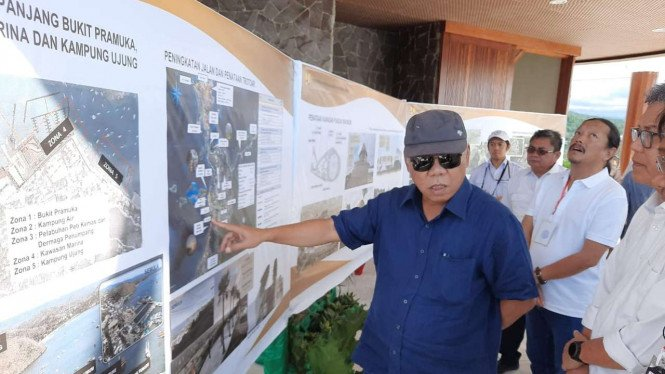 Menteri PUPR Basuki Hadimuljono di Puncak Waringin.