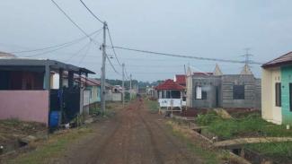 Sejumlah unit rumah di kompleks perumahan Green Citayam City (GCC), Bogor, Jawa Barat.