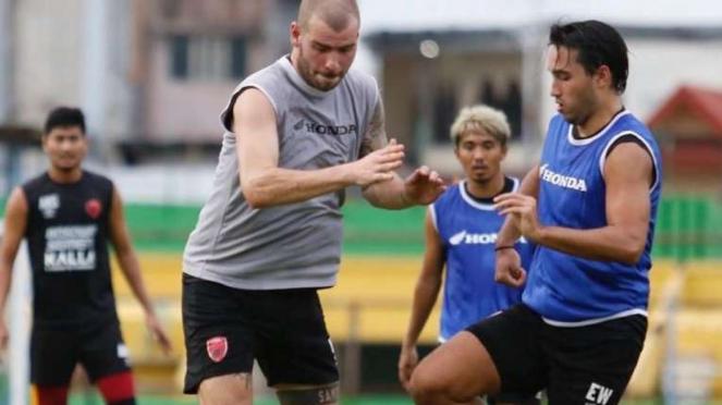 Sesi latihan tim PSM Makassar jelang duel kontra Lelanok United