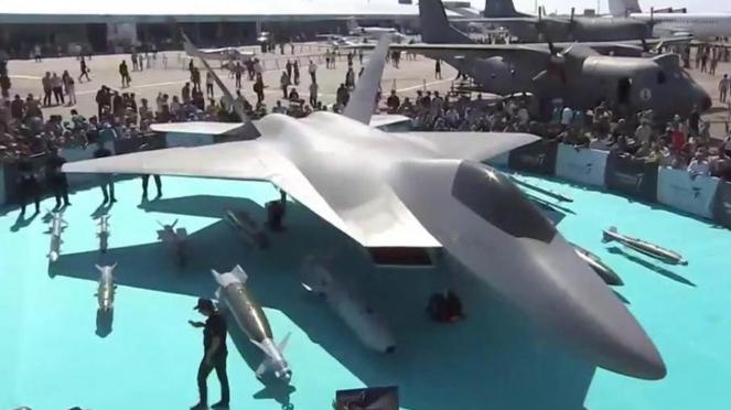 Jet tempur siluman TF-X milik Turki.