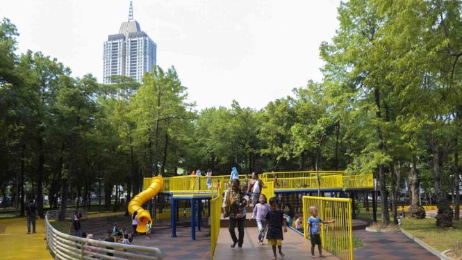 Wajah Baru Taman Puring Jakarta, Kini Cantik dan Bikin Betah