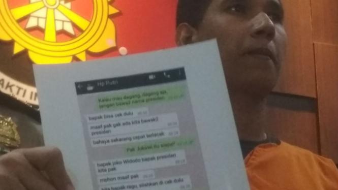 Pelaku penipuan pakai nama presiden Joko widodo