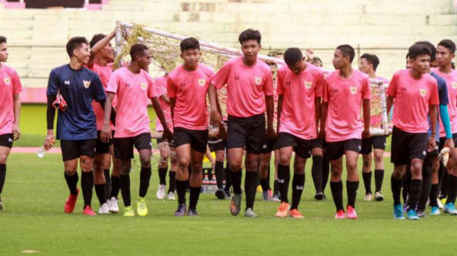 Latihan Timnas Indonesia U-16.