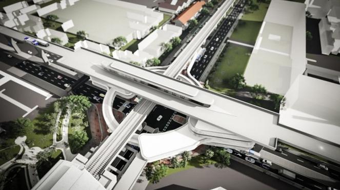 Desain integrasi transportasi di kawasan Kebayoran Baru