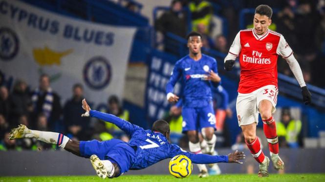 Blunder N'Golo Kante di Derby London kontra Arsenal