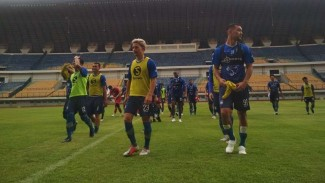 Skuat Persib Bandung kembali latihan di GBLA.