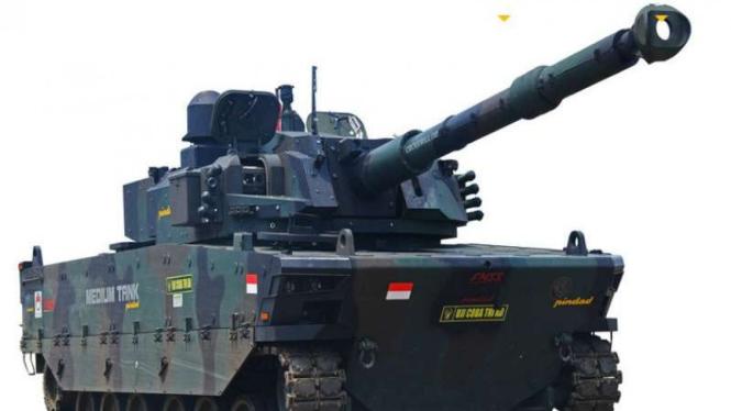 Harimau Medium Tank buatan PT Pindad yang telah dipesan Filipina.