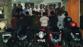 14 Pelajar Diamankan Polisi karena ikut Geng Motor Begal di Bali