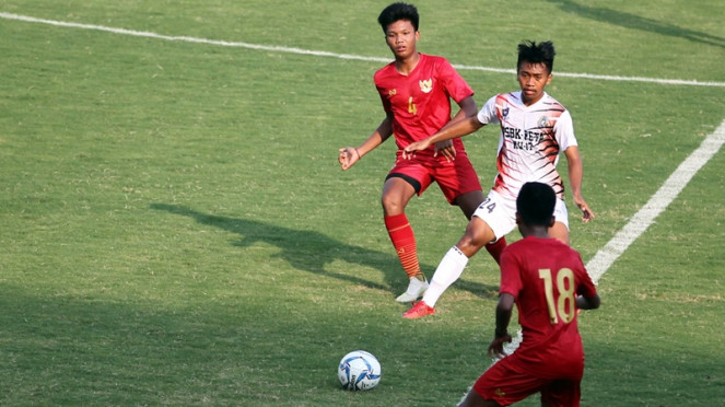 Uji coba Timnas Indonesia U-16 vs PSBK Blitar
