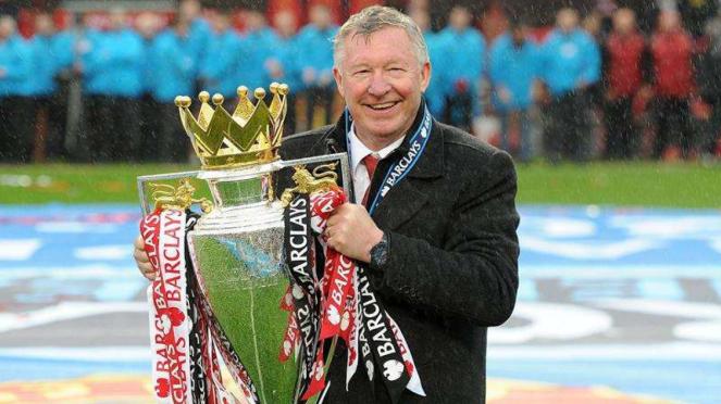 Sir Alex Ferguson saat membawa Manchester United juara Premier League 2012/2013