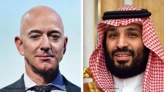 Jeff Bezos dan Mohammed Bin Salman.