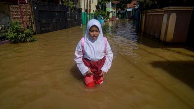 Banjir di Dayeuhkolot Kabupaten Bandung Jumat 24 Januari 2020