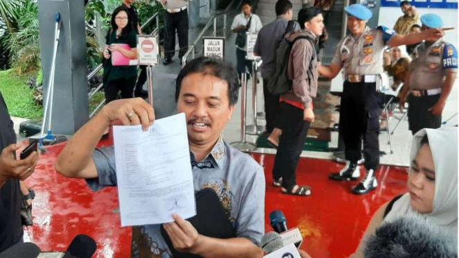 Roy Suryo laporkan Sunda Empire ke polisi