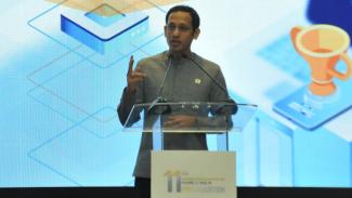 Mendikbud Nadiem Makarim di Seminar Nasional & Science Fair 2020.