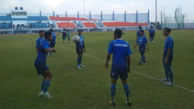 Suasana latihan Persib Bandung.