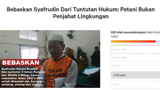 Petisi bebaskan Syarifudin