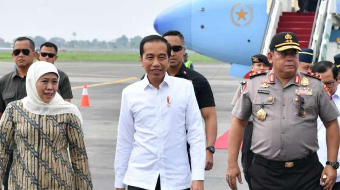 Presiden Joko Widodo saat kunjungan kerja ke Jawa Timur