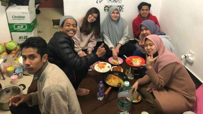Mahasiswa asal Aceh berada di Kota Wuhan, Aceh, paska penyebaran virus Corona.