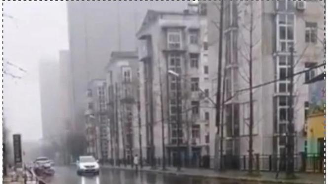 Penampakan Kota Wuhan.
