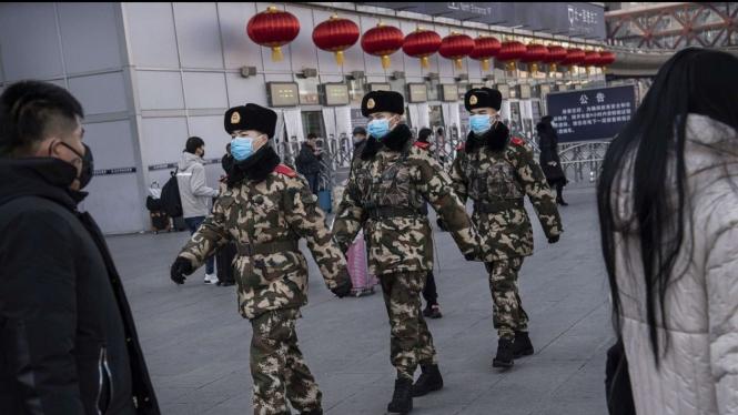 Militer China dilibatkan dalam pencegahan penyebaran Virus Corona.