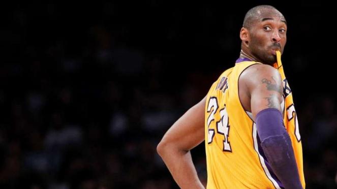 Mendiang Kobe Bryant saat masih membela Los Angeles Lakers