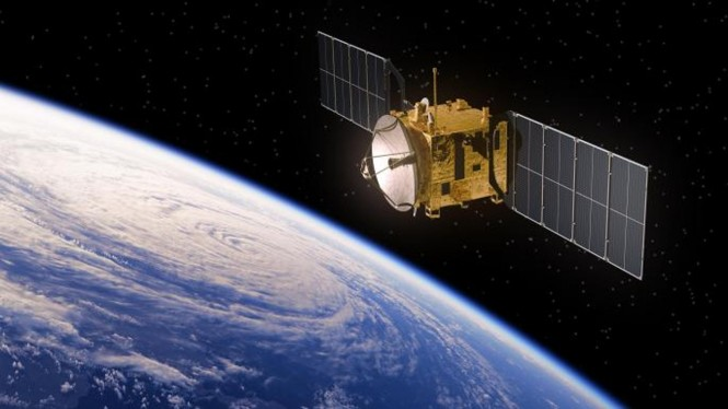 Ilustrasi internet satelit.