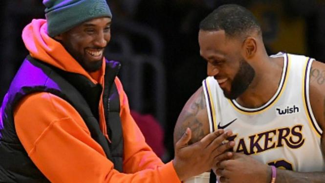 Keakraban legenda LA Lakers, Kobe Bryant dengan LeBron James