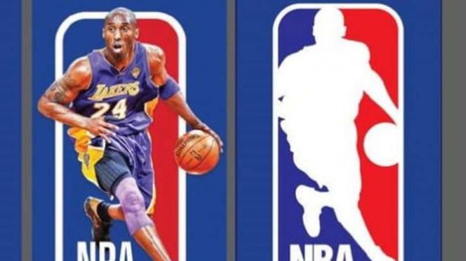 Logo NBA dengan siluet Kobe Bryant