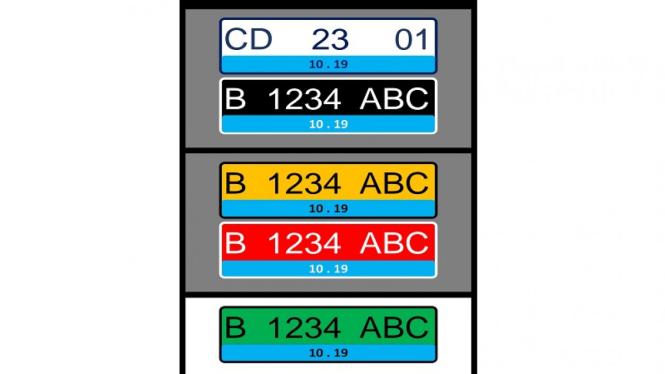 Warna pelat nomor kendaraan listrik