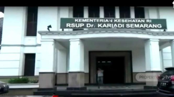 Ruang isolasi khusus di RSUP dr Kariadi, Semarang, Jawa Tengah.