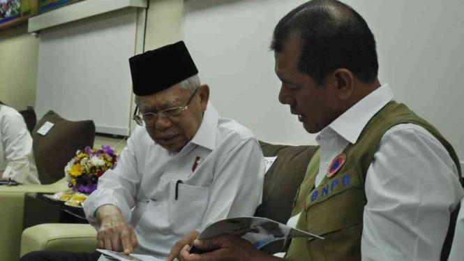 Wakil Presiden Maruf Amin dan Kepala BNPB, Doni Monardo.