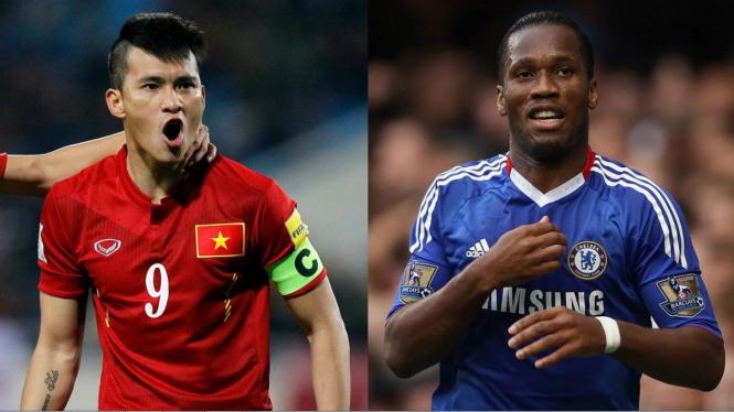 Bomber legendaris Vietnam, Le Cong Vinh & legenda Chelsea, Didier Drogba