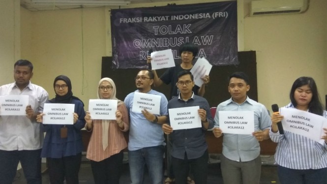 Fraksi Rakyat Indonesia tolak Omnibus Law.